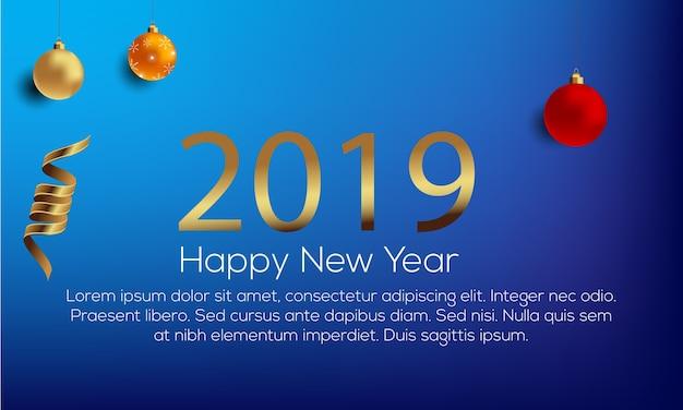 Feliz ano novo 2019 resumo de plano de fundo