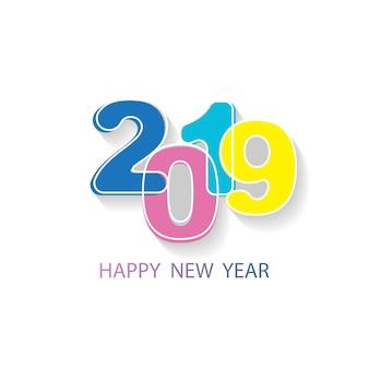Feliz ano novo 2019 vector fundo