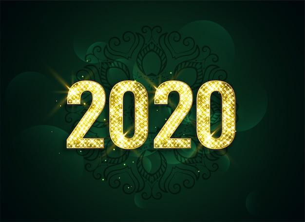 Feliz ano novo 2020 atraente brilho fundo