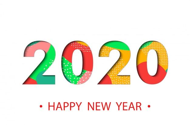 Feliz ano novo 2020 background