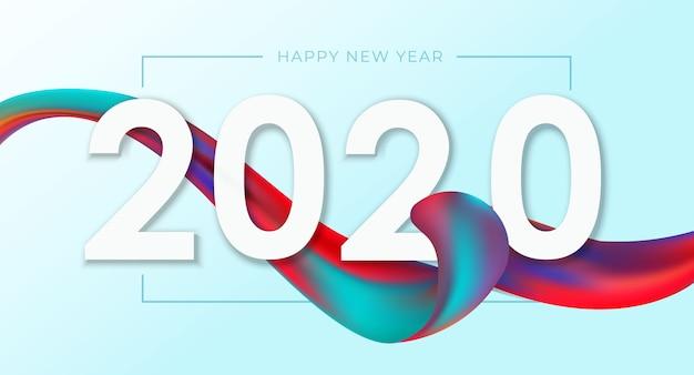 Feliz ano novo 2020 banner