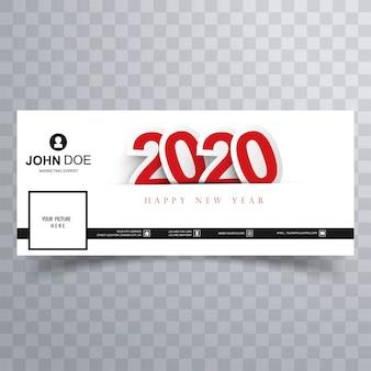 Feliz ano novo 2020 capa do facebook