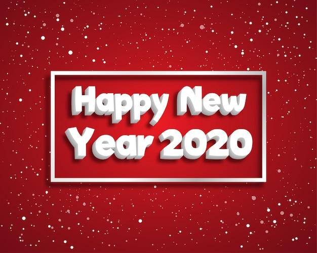 Feliz ano novo 2020. cartão de boas vindas. abstrato . .