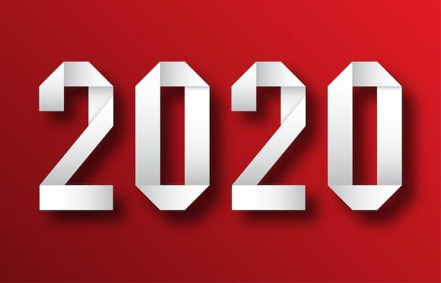 Feliz ano novo 2020 cartão de cumprimentos