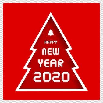 Feliz ano novo 2020 cartão de felicitações para decoração