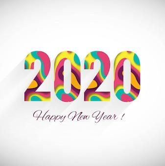 Feliz ano novo 2020 cartão de saudação de férias de inverno