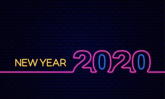 Feliz ano novo 2020 cartão