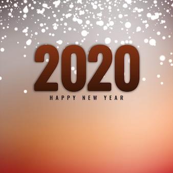 Feliz ano novo 2020 com brilhos