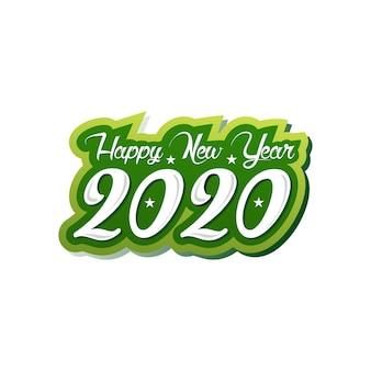Feliz ano novo 2020 de logotipo