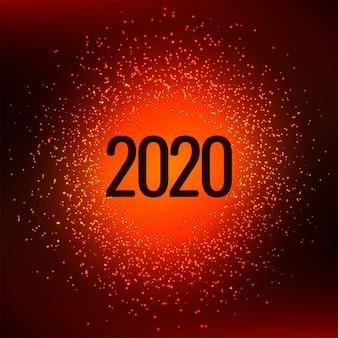 Feliz ano novo 2020 elegante brilha fundo