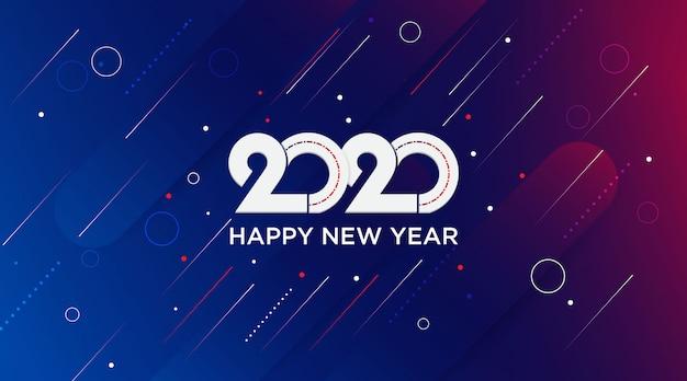 Feliz ano novo 2020 elegante fundo