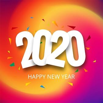 Feliz ano novo 2020 feriado cartão confete