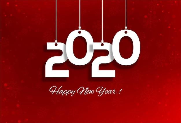 Feliz ano novo 2020 feriado cartão festival