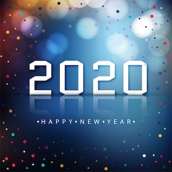 Feliz ano novo 2020 fundo colorido de celebração
