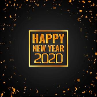 Feliz ano novo 2020 fundo de confetes
