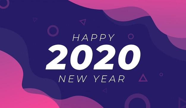 Feliz ano novo 2020 fundo