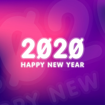 Feliz ano novo 2020 ilustração de fundo