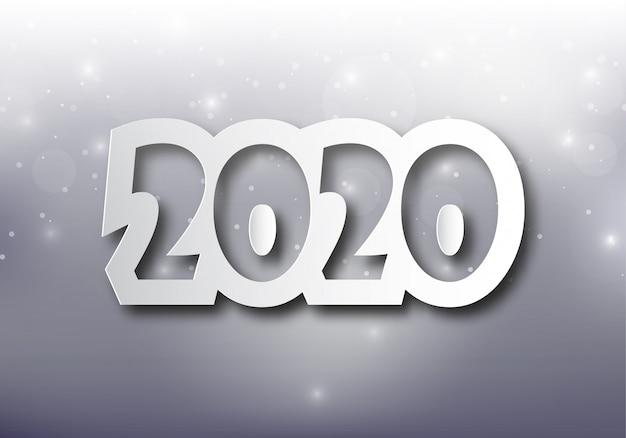Feliz ano novo 2020 ilustração.