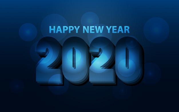 Feliz ano novo 2020 minimalista fundo