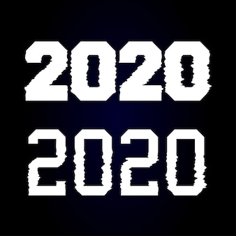 Feliz ano novo 2020 texto design falha