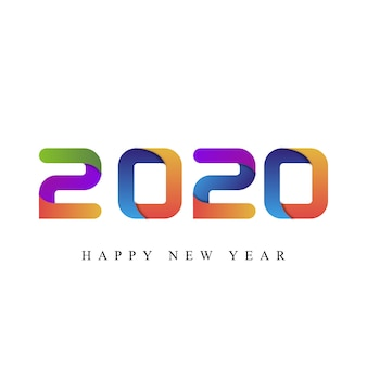 Feliz ano novo 2020 tipografia
