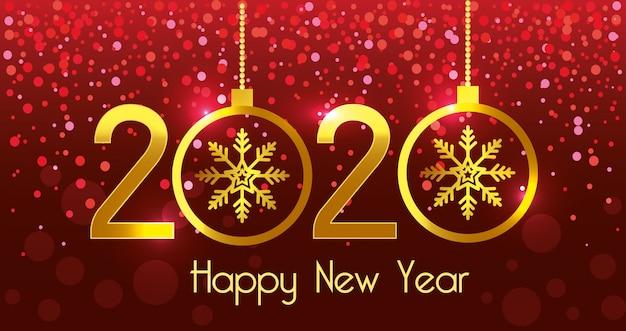 Feliz ano novo 2020 vector design