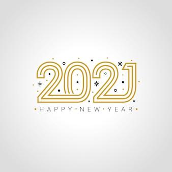 Feliz ano novo 2021 comemorando