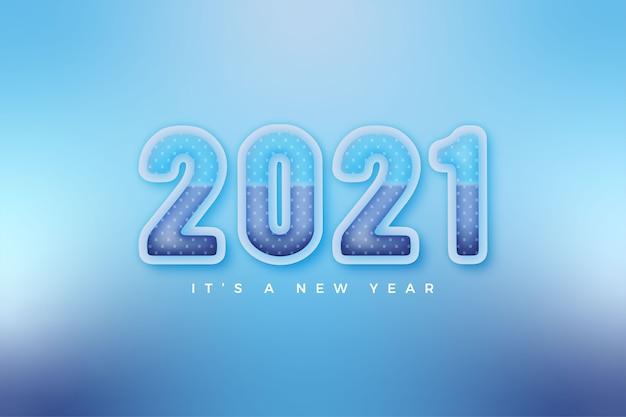 Feliz ano novo 2021 modelo de cores suaves de inverno para calendário