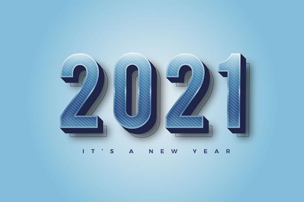 Feliz ano novo 2021 modelo de fundo colorido gradiente