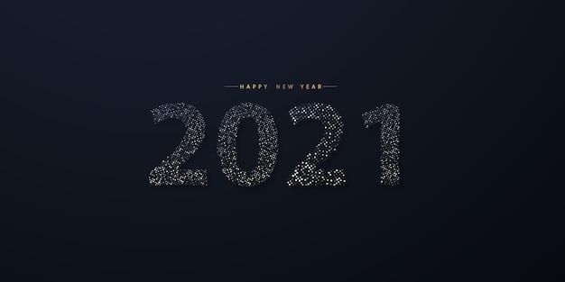 Feliz ano novo 2021 saudação