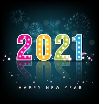 Feliz ano novo 2021 saudações