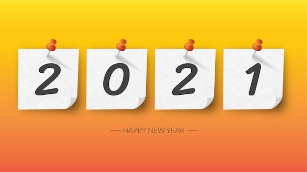 Feliz ano novo 2021ilustração