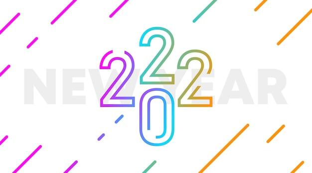 Feliz ano novo 2022 ilustração de fundo. banner e flyer de feliz ano novo na web