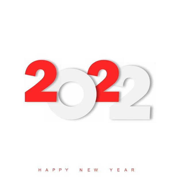 Feliz ano novo 2022 texto design. modelo de design de brochura, cartão postal, banner. ilustração vetorial