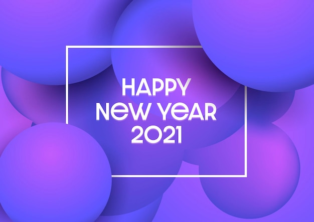 Feliz ano novo abstrato com design moderno