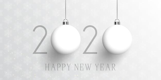 Feliz ano novo banner de bugiganga
