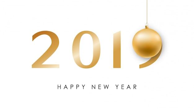 Feliz ano novo banner de vetor.