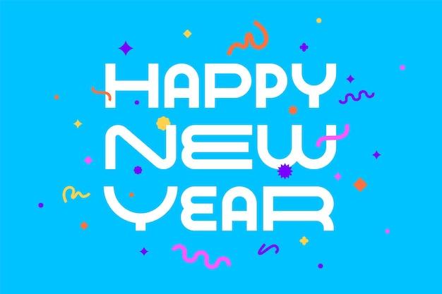 Feliz ano novo. cartão com inscrição feliz ano novo.