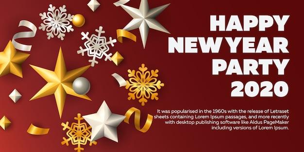 Feliz ano novo cartão de convite de festa