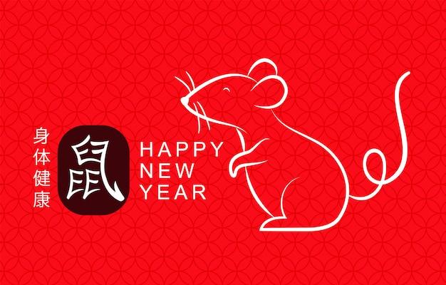 Feliz ano novo chinês fundo