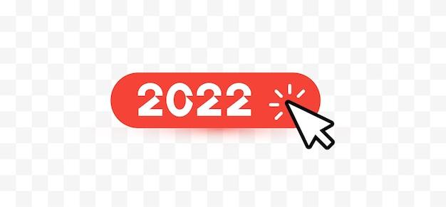 Feliz ano novo, clique no botão do mouse para saudações e convites, agenda da web interface da web natal
