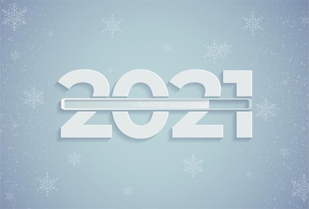 Feliz ano novo com barra de carregamento