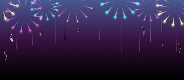 Feliz ano novo com fundo de fogos de artifício