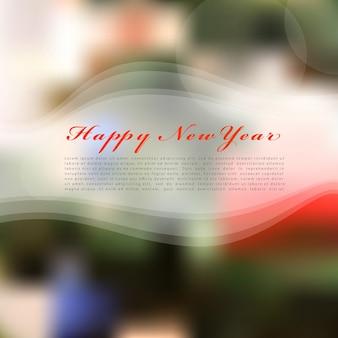 Feliz ano novo com fundo desfocado