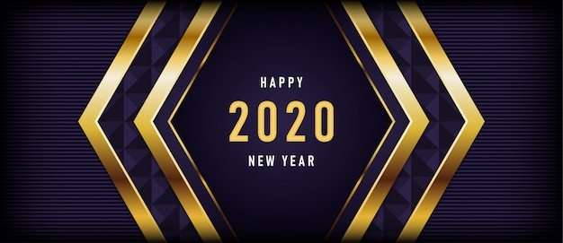 Feliz ano novo com fundo roxo escuro luxuoso