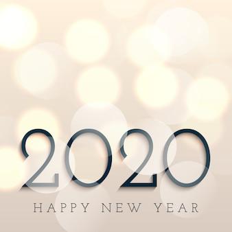 Feliz ano novo com luzes de bokeh