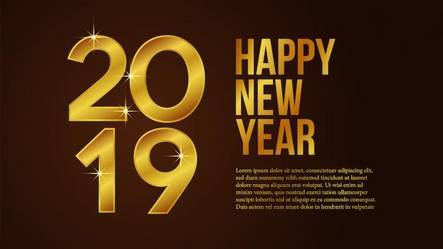 Feliz ano novo com número de ouro