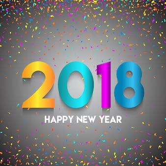 Feliz ano novo confetes de fundo
