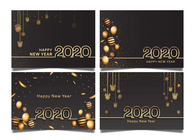 Feliz ano novo conjunto de modelos
