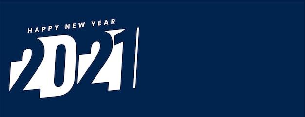 Feliz ano novo criativo em fundo branco e azul